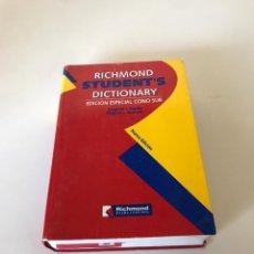 Diccionarios de segunda mano: DICTIONARY ESPAÑOL INGLES. Lote 216611981