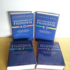 Livros em segunda mão: J. FERRATER MORA - DICCIONARIO DE FILOSOFIA (4 TOMOS) - CIRCULO DE LECTORES 2001. Lote 217786698