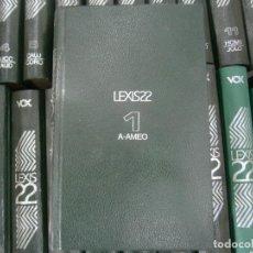 Diccionarios de segunda mano: LEXIS22 VOX, DICCIONARIOS ENCICLOPEDICOS ( 22 TOMOS). (MAS TRES DE LEXIS22 VOX). Lote 217868126