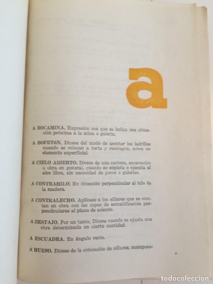 Diccionarios de segunda mano: LÉXICO DE LA CONSTRUCCIÓN. INSTITUTO EDUARDO TORROJA DE LA CONSTRUCCIÓN Y DEL CEMENTO. - Foto 9 - 218094428