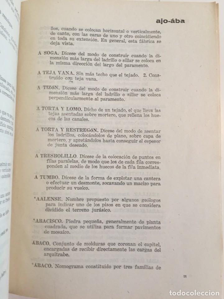 Diccionarios de segunda mano: LÉXICO DE LA CONSTRUCCIÓN. INSTITUTO EDUARDO TORROJA DE LA CONSTRUCCIÓN Y DEL CEMENTO. - Foto 10 - 218094428