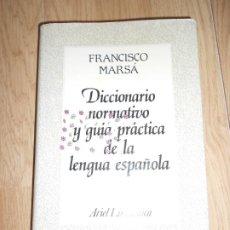Livros em segunda mão: DICCIONARIO NORMATIVO Y GUIA PRACTICA DE LA LENGUA ESPAÑOLA - FRANCISCO MAESA. Lote 218384631