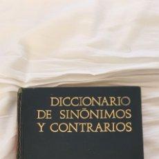 Diccionarios de segunda mano: DICCIONARIO DE SINONIMOS Y ANTÓNIMOS 1966. Lote 218453851