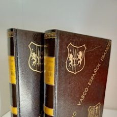 Diccionarios de segunda mano: DICCIONARIO VASCO-ESPAÑOL-FRANCES, DOS TOMOS, LA GRAN ENCICLOPEDIA VASCA, 1967. Lote 218896440