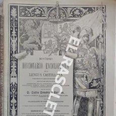 Diccionarios de segunda mano: ANTIGUO CUADERNO Nº 24 DICCIONARIO ENCICLOPEDICO DE LA LENGUA CASTELLANA D. DELFIN DONADIU Y PUIGNAU. Lote 218904477