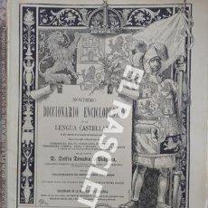 Diccionarios de segunda mano: ANTIGUO CUADERNO Nº 25 DICCIONARIO ENCICLOPEDICO DE LA LENGUA CASTELLANA D. DELFIN DONADIU Y PUIGNAU. Lote 218904582
