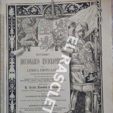 Diccionarios de segunda mano: ANTIGUO CUADERNO Nº 27 DICCIONARIO ENCICLOPEDICO DE LA LENGUA CASTELLANA D. DELFIN DONADIU Y PUIGNAU. Lote 218904763