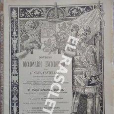 Diccionarios de segunda mano: ANTIGUO CUADERNO Nº 29 DICCIONARIO ENCICLOPEDICO DE LA LENGUA CASTELLANA D. DELFIN DONADIU Y PUIGNAU. Lote 218904976