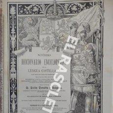 Diccionarios de segunda mano: ANTIGUO CUADERNO Nº 30 DICCIONARIO ENCICLOPEDICO DE LA LENGUA CASTELLANA D. DELFIN DONADIU Y PUIGNAU. Lote 218905148