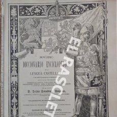 Diccionarios de segunda mano: ANTIGUO CUADERNO Nº 31 DICCIONARIO ENCICLOPEDICO DE LA LENGUA CASTELLANA D. DELFIN DONADIU Y PUIGNAU. Lote 218905288