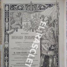 Diccionarios de segunda mano: ANTIGUO CUADERNO Nº 34 DICCIONARIO ENCICLOPEDICO DE LA LENGUA CASTELLANA D. DELFIN DONADIU Y PUIGNAU. Lote 218905712