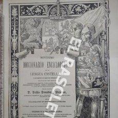 Diccionarios de segunda mano: ANTIGUO CUADERNO Nº 35 DICCIONARIO ENCICLOPEDICO DE LA LENGUA CASTELLANA D. DELFIN DONADIU Y PUIGNAU. Lote 218905867