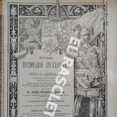 Diccionarios de segunda mano: ANTIGUO CUADERNO Nº 36 DICCIONARIO ENCICLOPEDICO DE LA LENGUA CASTELLANA D. DELFIN DONADIU Y PUIGNAU. Lote 218905998