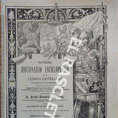 Diccionarios de segunda mano: ANTIGUO CUADERNO Nº 37 DICCIONARIO ENCICLOPEDICO DE LA LENGUA CASTELLANA D. DELFIN DONADIU Y PUIGNAU. Lote 218906140