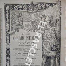 Diccionarios de segunda mano: ANTIGUO CUADERNO Nº 38 DICCIONARIO ENCICLOPEDICO DE LA LENGUA CASTELLANA D. DELFIN DONADIU Y PUIGNAU. Lote 218906235