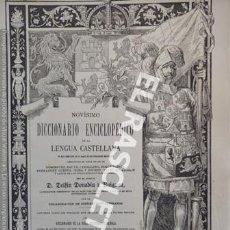 Diccionarios de segunda mano: ANTIGUO CUADERNO Nº 39 DICCIONARIO ENCICLOPEDICO DE LA LENGUA CASTELLANA D. DELFIN DONADIU Y PUIGNAU. Lote 218906331