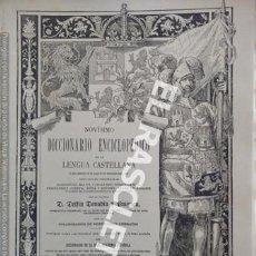 Diccionarios de segunda mano: ANTIGUO CUADERNO Nº 40 DICCIONARIO ENCICLOPEDICO DE LA LENGUA CASTELLANA D. DELFIN DONADIU Y PUIGNAU. Lote 218906438
