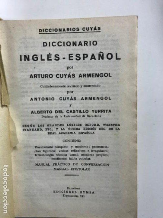 Diccionarios de segunda mano: Diccionario Cuyás. Inglés - Español. PEDIDO MÍNIMO 5€ - Foto 2 - 219002058