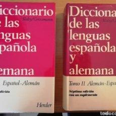 Diccionarios de segunda mano: SLABY/GROSSMANN, TOMOS I Y II, DICCIONARIO DE LAS LENGUAS ESPAÑOLA Y ALEMANA. ED. HERDER, 1984-86. Lote 219274602