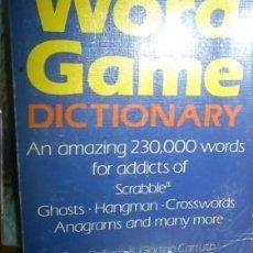 Diccionarios de segunda mano: WORD GAME DICTIONARY (DICCIONARIO JUEGO DE PALABRAS). Lote 219363892