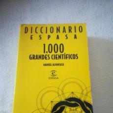 Diccionarios de segunda mano: DICCIONARIO ESPASA. 1000 GRANDES CIENTIFICOS. MANUEL FONSECA. 1996. Lote 219647721