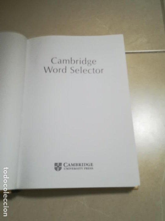 Diccionarios de segunda mano: DICCIONARIO TEMATICO DEL INGLES CONTEMPORANEO. CAMBRIDGE WORD SELECTOR. 1º ED. 1995 - Foto 2 - 220563955