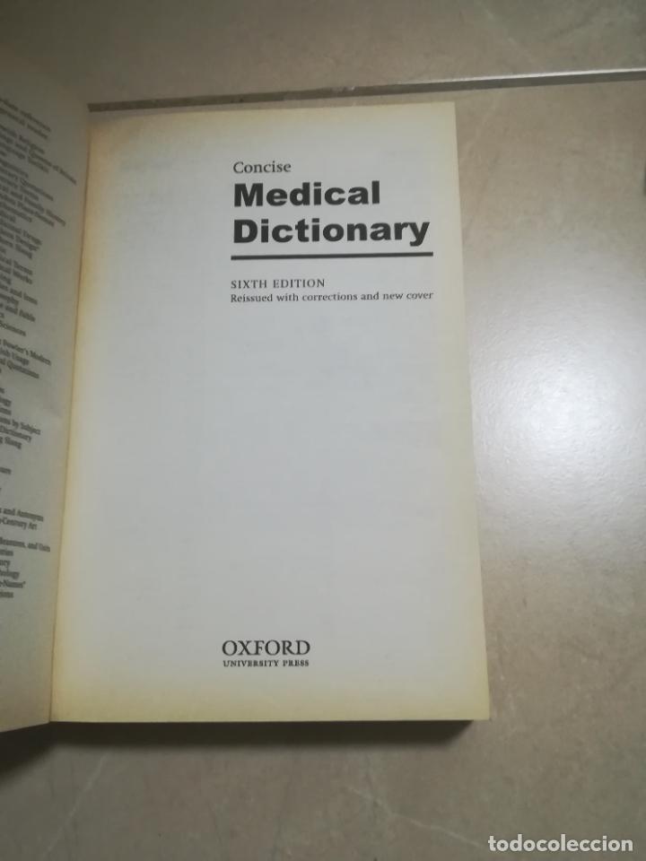 Diccionarios de segunda mano: OXFORD CONCISE MEDICAL DICTIONARY. 2003. RUSTICA. EN INGLES. - Foto 2 - 220564150