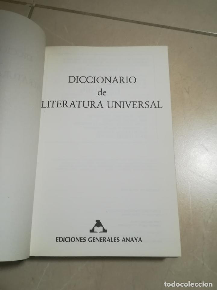Diccionarios de segunda mano: DICCIONARIO DE LITERATURA UNIVERSAL. EDICIONES GENERALES ANAYA. 1º EDICION. 1985. TAPA DURA - Foto 2 - 220564387
