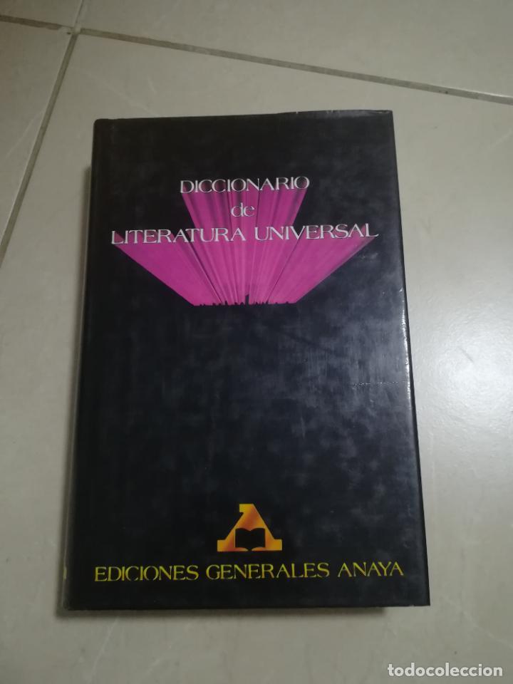DICCIONARIO DE LITERATURA UNIVERSAL. EDICIONES GENERALES ANAYA. 1º EDICION. 1985. TAPA DURA (Libros de Segunda Mano - Diccionarios)
