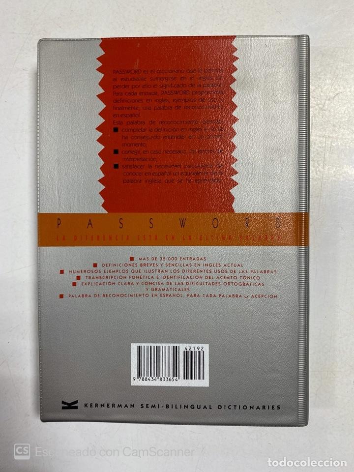 Diccionarios de segunda mano: PASSWORD. ENGLISH DICTIONARY FOR SPEAKERS OF SPANISH. EDITORIAL SM. MADRID, 1991. - Foto 4 - 221258497