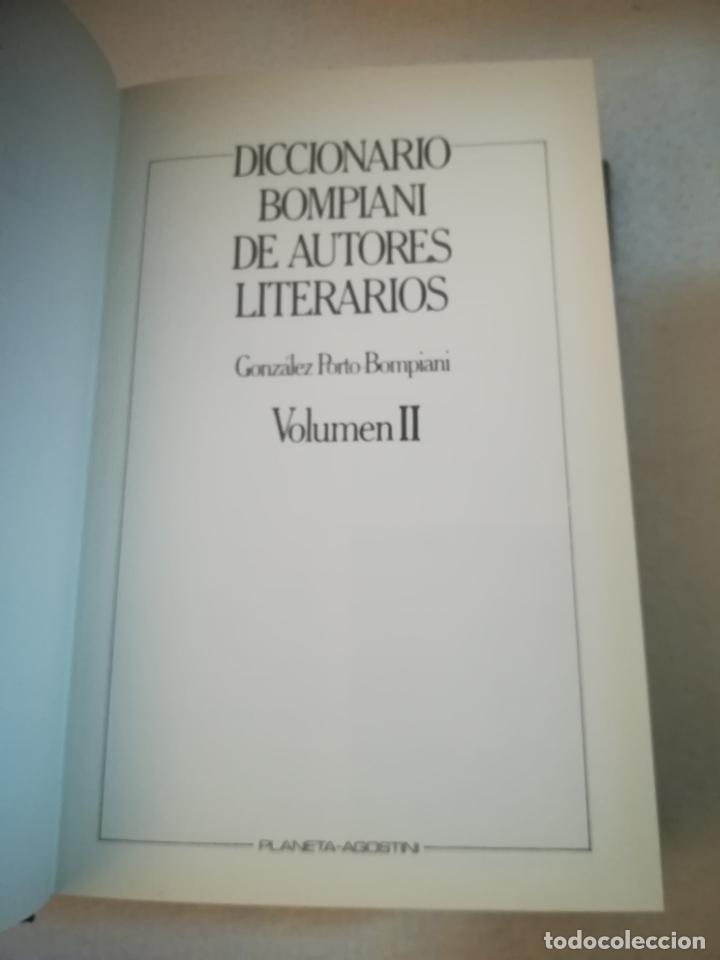 Diccionarios de segunda mano: DICCIONARIO BOMPIANI DE AUTORES LITERARIOS II. 1987. ED.PLANETA AGOSTINI. 1240 PAG. ILUSTRADO - Foto 2 - 221333332
