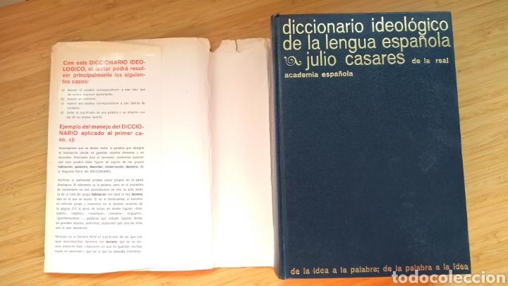 DICCIONARIO IDEOLÓGICO DE LA LENGUA ESPAÑOLA - JULIO CASARES (1985) (Libros de Segunda Mano - Diccionarios)