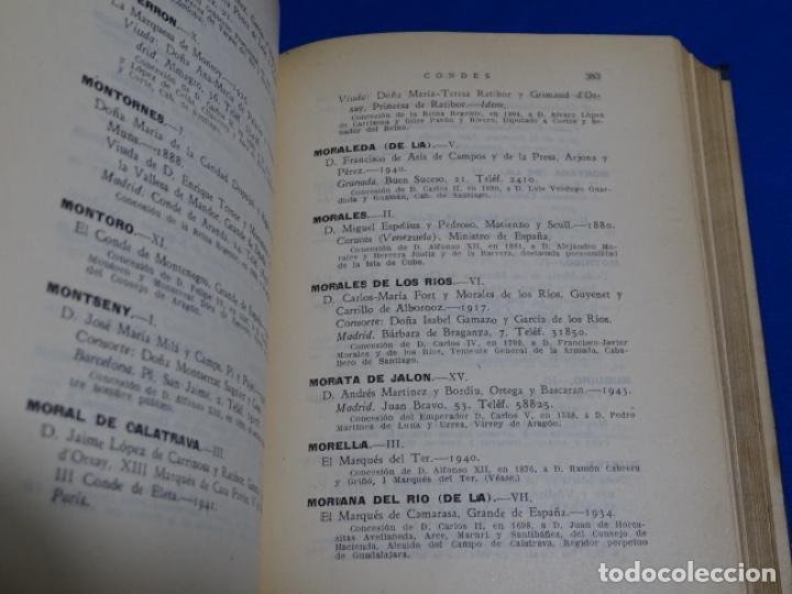 Diccionarios de segunda mano: GUÍA NOBILIARIA DE ESPAÑA 1941-44.ROBERTO MORENO MORRISON. - Foto 3 - 222082518