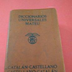 Livres d'occasion: DICCIONARIO CATALAN-CASTELLANO, CASTELLANO CATALAN DE BOLSILLO. Lote 222219657
