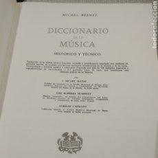 Diccionarios de segunda mano: DICCIONARIO DE LA MÚSICA AUTOR:MICHEL BRENET. Lote 223042305