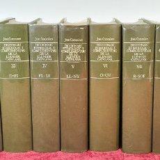 Diccionarios de segunda mano: DICCIONARI ETIMOLOGIC DE LA LEGUA CATALANA. JOAN COROMINES. 10 VOL. 1989.. Lote 223448681