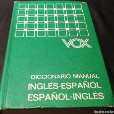 Diccionarios de segunda mano: VOX - DICCIONARIO MANUAL , INGLÉS ESPAÑOL. Lote 224006973