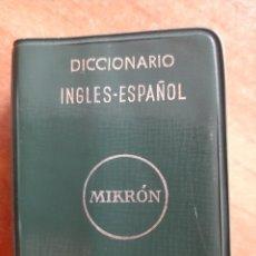 Diccionarios de segunda mano: 1973 DICCIONARIO INGLÉS - ESPAÑOL / MINIATURA. Lote 224060326