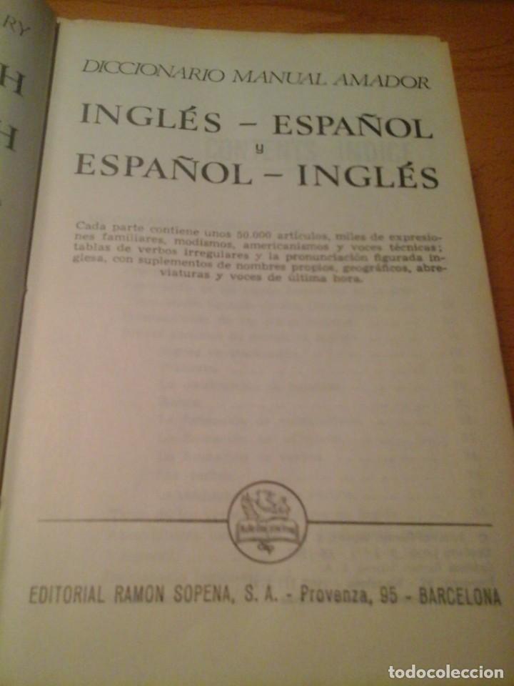 DICCIONARIO INGLÉS-ESPAÑOL, ESPAÑOL-INGLÉS (Libros de Segunda Mano - Diccionarios)