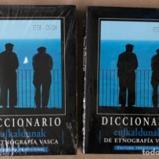 Diccionarios de segunda mano: DICCIONARIO EUSKALDUNAK DE ETNOGRAFIA VASCA. EDITA ETOR OSTOA. ENRIQUE AYERBE. 2 TOMOS NUEVOS. Lote 225810975