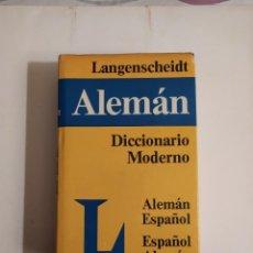 Diccionarios de segunda mano: DICCIONARIO MODERNO LANGENSCHEIDT ALEMÁN - ESPAÑOL - (RECÍPROCO) - TH.SCHOEN - T.NOELI. Lote 227063445