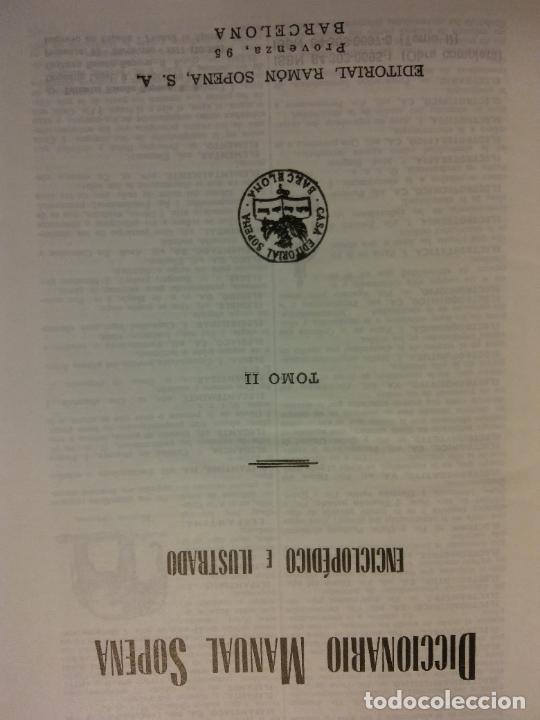 DICCIONARIO MANUAL SOPENA. TOMO II. ENCICLOPÉDICO E ILUSTRADO. EDITORIAL SOPENA (Libros de Segunda Mano - Diccionarios)