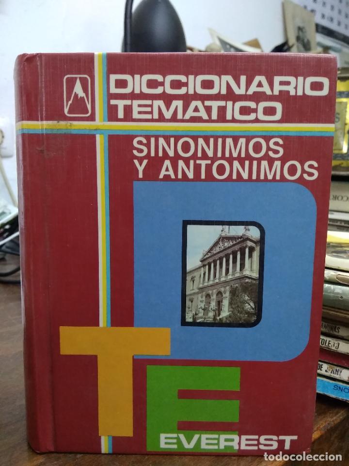 DICCIONARIO TEMÁTICO SINÓNIMOS Y ANTÓNIMOS ED EVEREST. L.36-835 (Libros de Segunda Mano - Diccionarios)