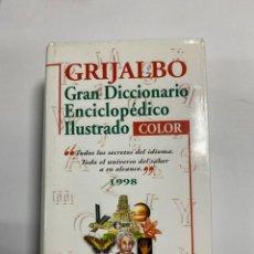 Diccionarios de segunda mano: GRAN DICCIONARIO ENCICLOPEDICO ILUSTRADO COLOR. GRIJALBO. 1998. PAGS: 1822. Lote 229564220