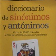 Diccionarios de segunda mano: DICCIONARIO DE SINONIMOS Y ANTONIMOS - EDITORIAL ESPASA. Lote 229921000