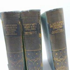Diccionarios de segunda mano: 3 TOMOS ENSAYO DE UN DICCIONARIO DE LA LITERATURA FEDERICO CARLOS SAINZ DE ROBLES AGUILAR 1954 1956. Lote 230014185