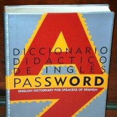 Livros em segunda mão: DICCIONARIO DIDÁCTICO DE INGLÉS PASSWORD / LIONEL KERNERMAN / EDICIONES SM EN MADRID 1995. Lote 232308195