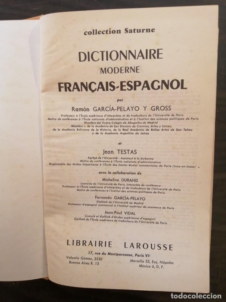 Diccionarios de segunda mano: DICTIONNAIRE MODERNE FRANÇAIS - ESPAGNOL. Espagnol-Français. LAROUSSE - Foto 4 - 233813340