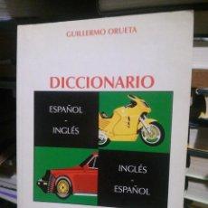 Diccionarios de segunda mano: DICCIONARIO DEL MOTORM GUILLERMO ORUETA, ED. DOSSAT , ESPAÑOL- INGLES. Lote 235125360