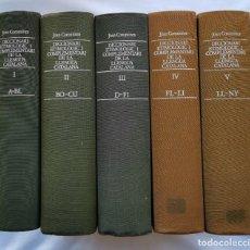 Diccionarios de segunda mano: DICCIONARI ETIMOLOGIC I COMPLEMENTARI DE LA LLENGUA CATALANA. JOAN COROMINES. 5 VOLUMS. Lote 235132460